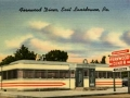 Fernwood Diner PostCard2- Baltimore Pike, East Lansdowne, Delaware County- Circa 1950