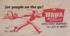 Wawa shopping bag. 1970's.