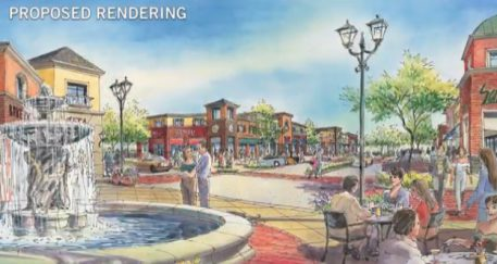 Proposed rendering of Granite Run Mall redevelopment. (BET Investments)