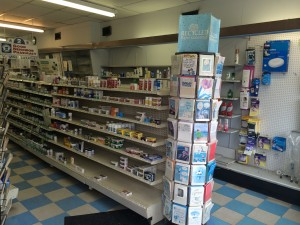Inside Katz Pharmacy on Darby and Eagle Roads.