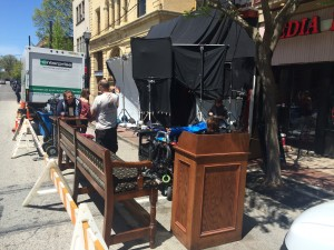 Flim crews take over State Street in Media.