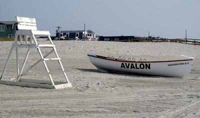 Avalon lifeguard boat. 46th Street Avalon. via. Sandy B.