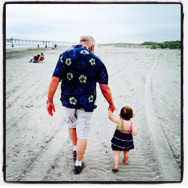 grand dad and girl