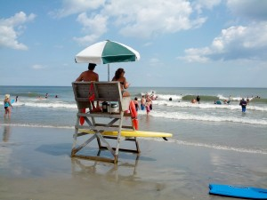 Lifeguard stand on a sunny day in Sea Isle. Photo:Jamie K.