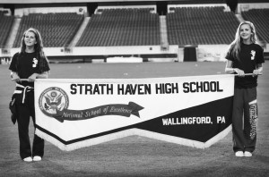 Strath Haven's Band Practicing at Lincoln Financial Field this week. Photo:Sarah Scarborough Photography